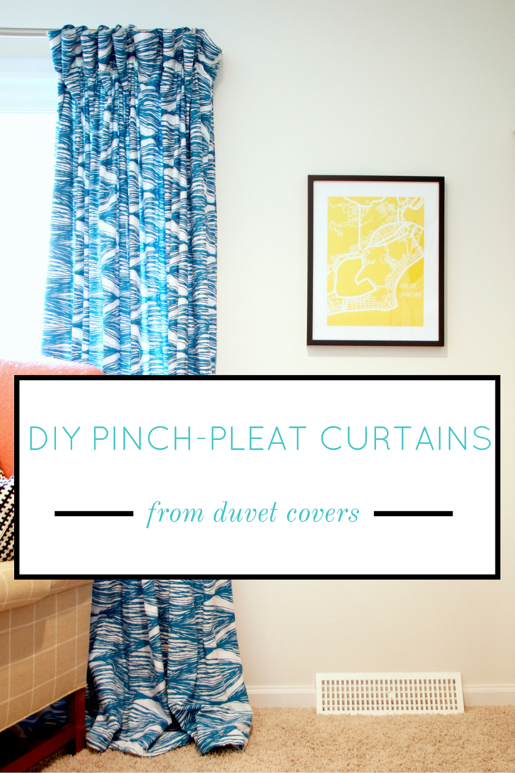 Easy DIY Pinch-Pleat Curtains from Duvet Covers