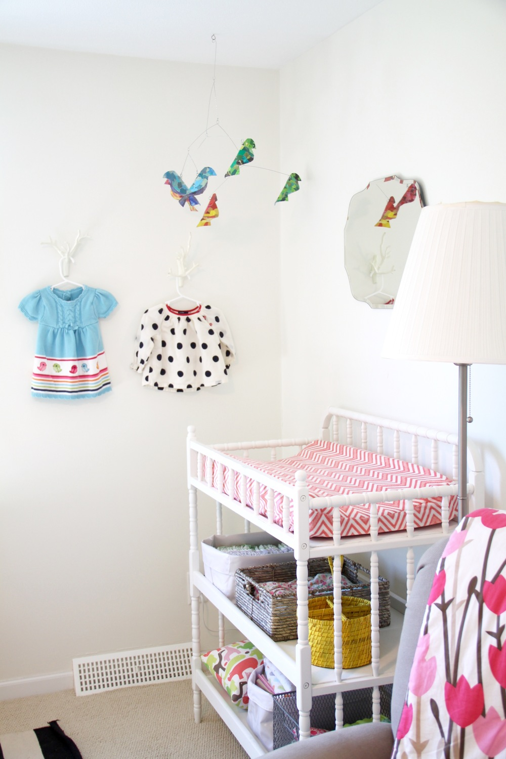 Nursery Jenny Lind Changing Table and Mobile