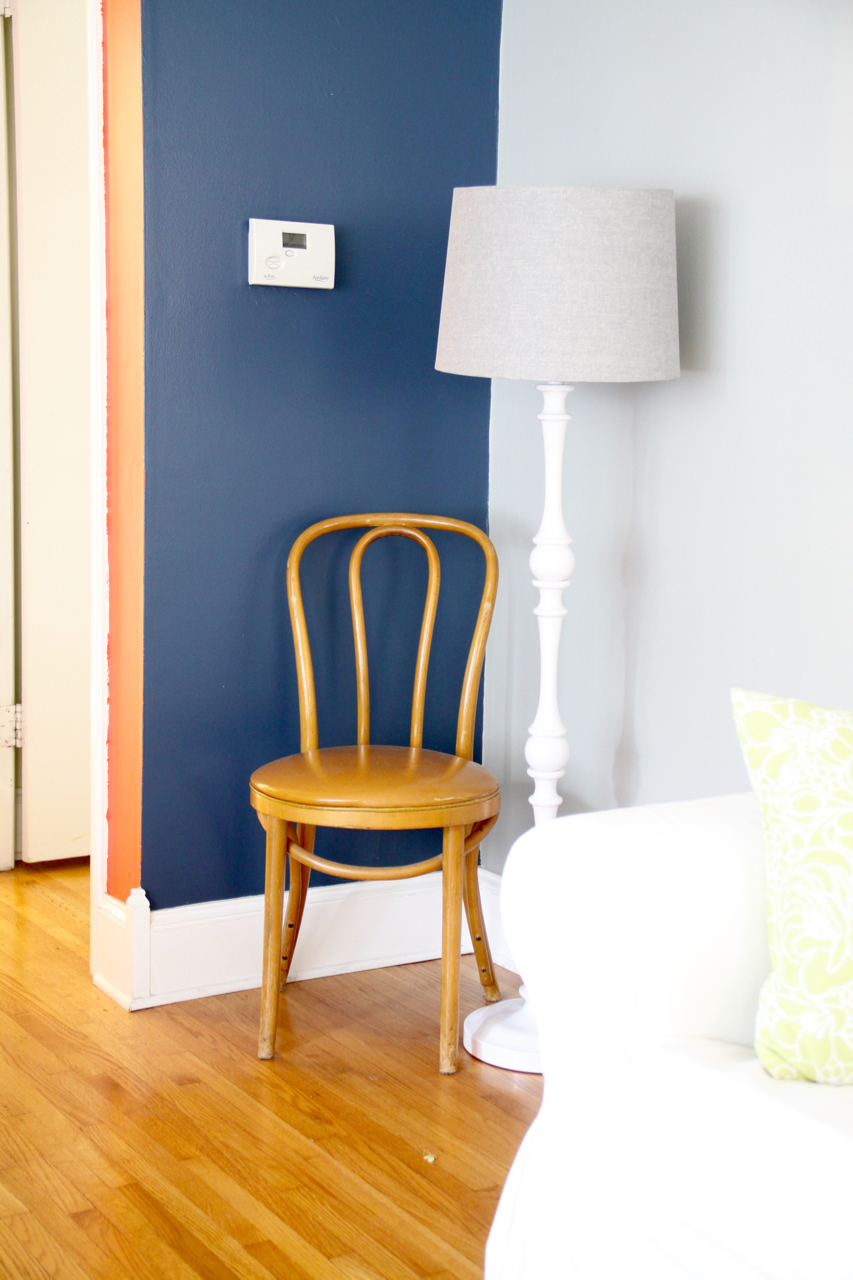 Bentwood Chair and Lamp in Corner