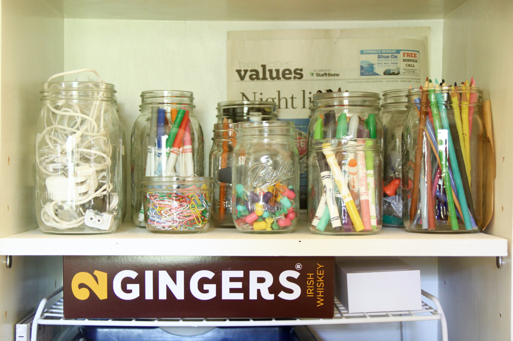 Art Supplies in Jars