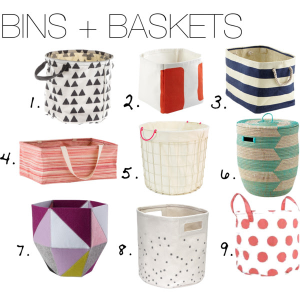 Favorite Bins and Baskets for Toys or Storage