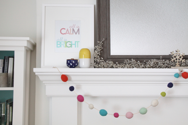Bright Mantel Decorations
