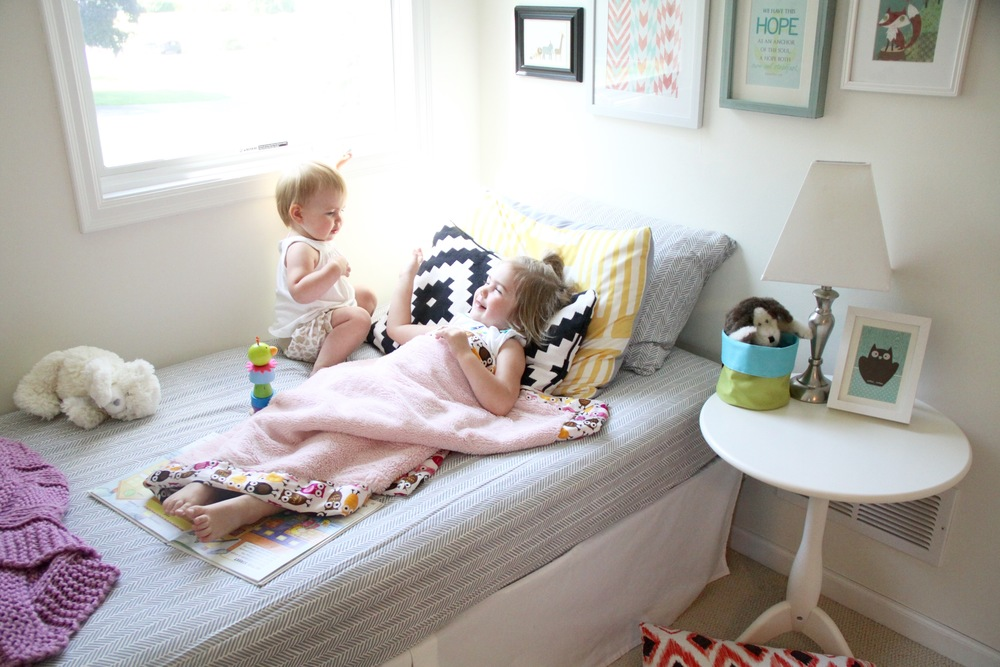 Girls Nursery Daybed Nook