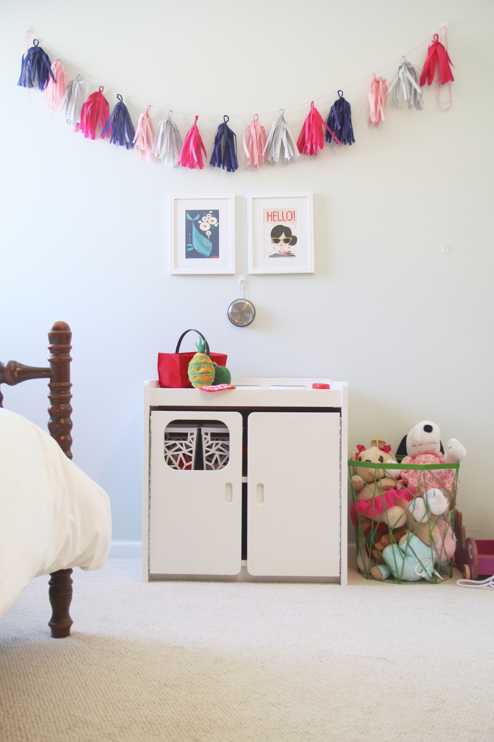 Colorful Girl's Room with Play Kitchen