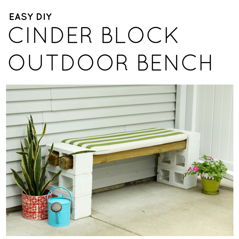easy diy outdoor bench from cinder blocks modern chemistry at home