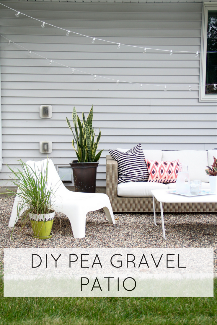 Easy DIY Pea Gravel Patio