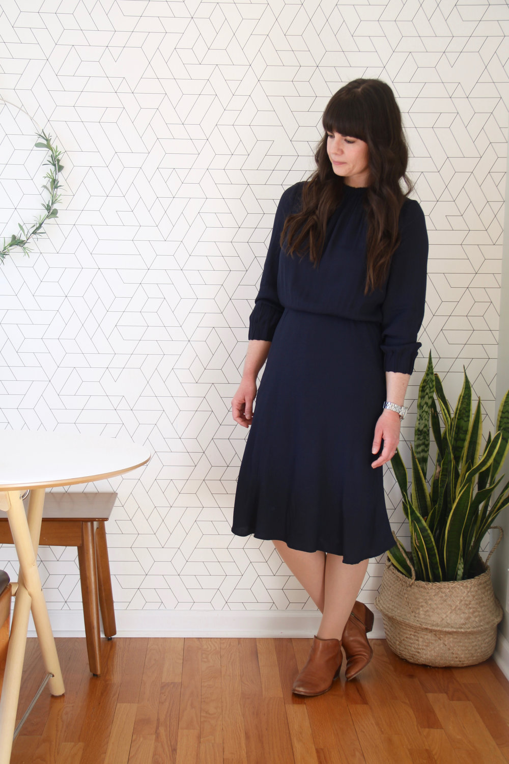 Spring 10x10 Capsule Wardrobe Challenge Navy Dress