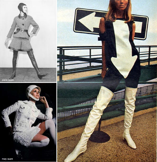Pierre Cardin, the arrow dress, Mary Quant