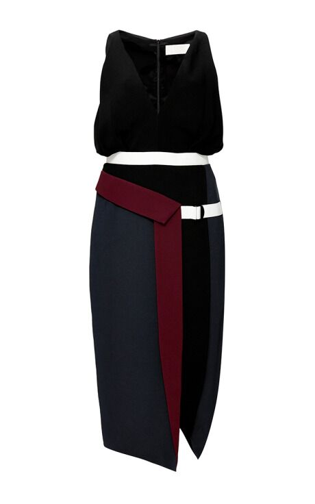 Peter Pilotto FW 2014 Color-Blocked Crepe Dress NOT for SALE, C/O Closet