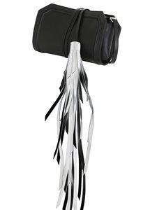Maria Lamanna Selva leather clutch with tassel @LuisSaviaroma.com
