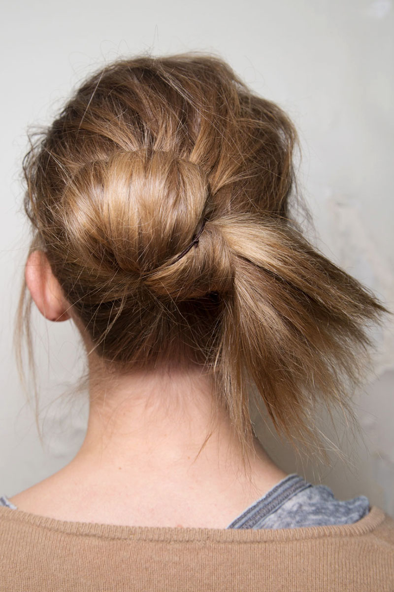 all tied up inspiration bun from Leroy