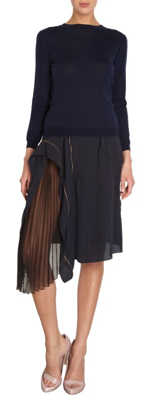 Nina Ricci Sheer Panel Skirt