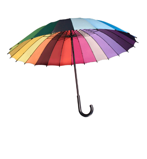 Colorwheel Umbrella by Karma Kiss