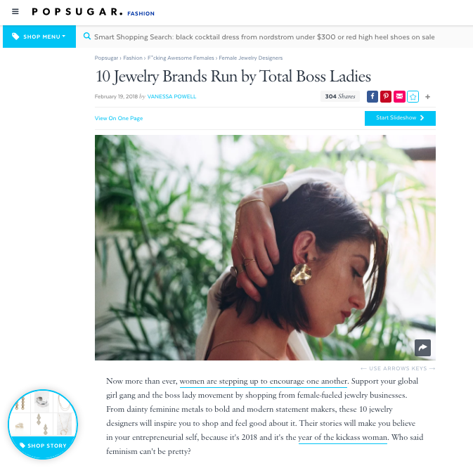 10 Jewelry Brands Run By Total Boss Ladies - By: Vanessa L. Powell for PopSugar.com