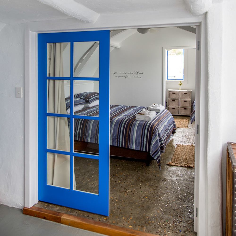 One of the two bedrooms in Naxos