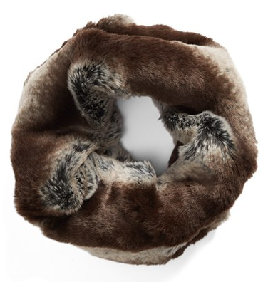 Badgley Mischka - Faux Fur Infinity Scarf