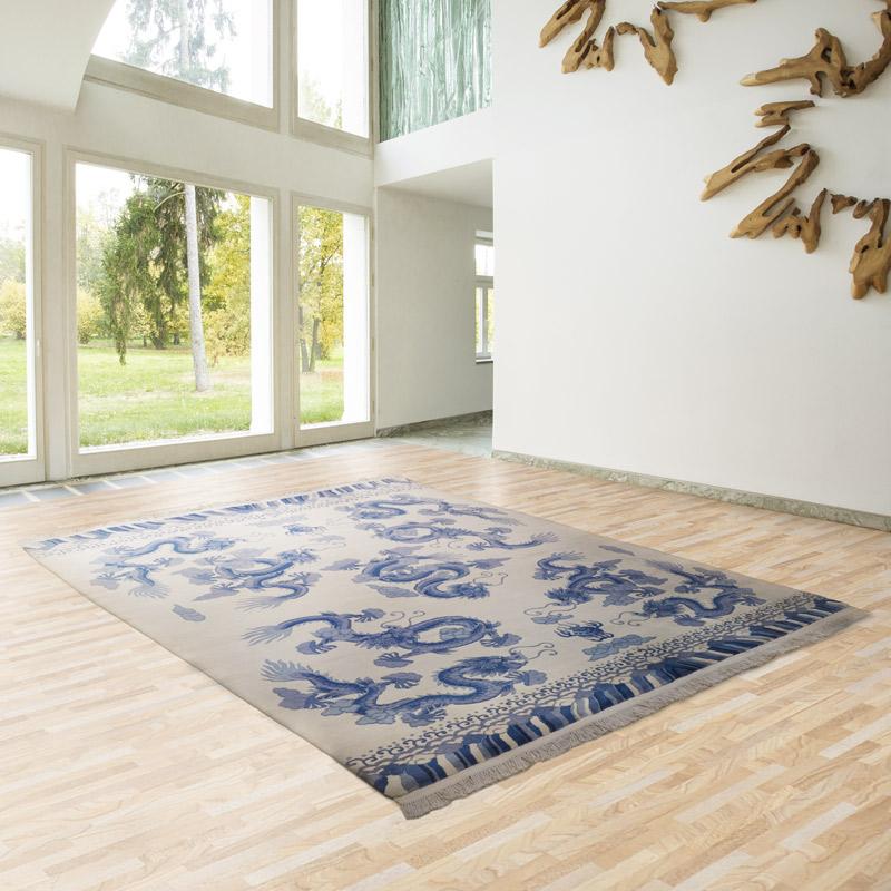 90道手工羊毛毯#001740  8 x 10 (240 x 300 cm)