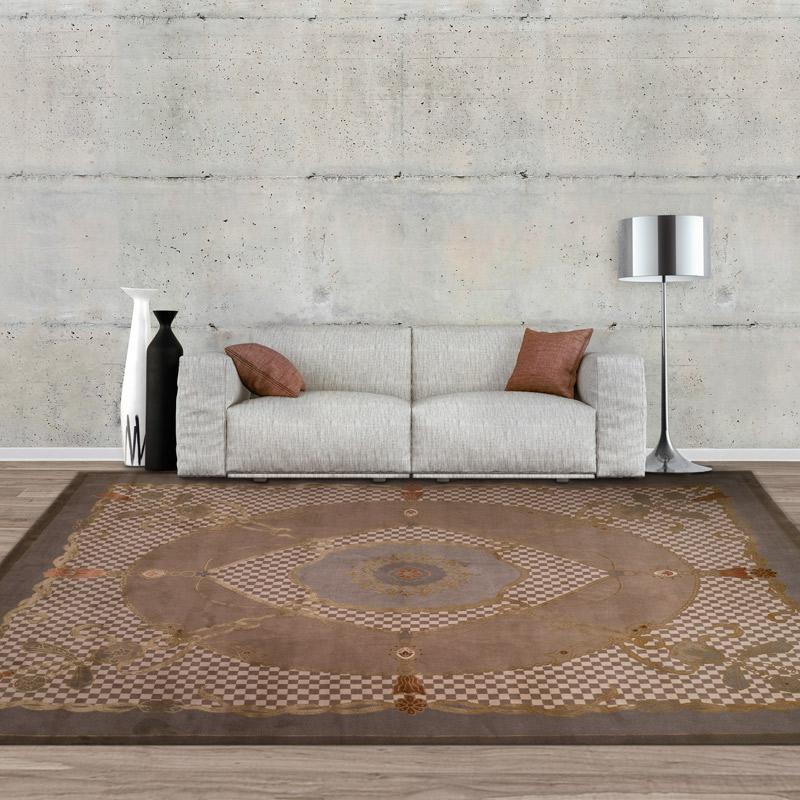 150道羊絨絲毯#003909  8 x 10 (240 x 300 cm)