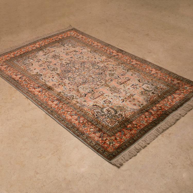 91810喀什米爾手工絲毯#000902  4 x 6 (120 x 180 cm)