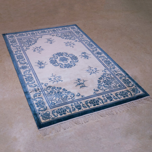 120道手工絲毯#001676  4 x 6 (120 x 180 cm)