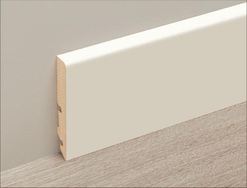 白色高踢腳板 2400 x 12 x 80 mm
