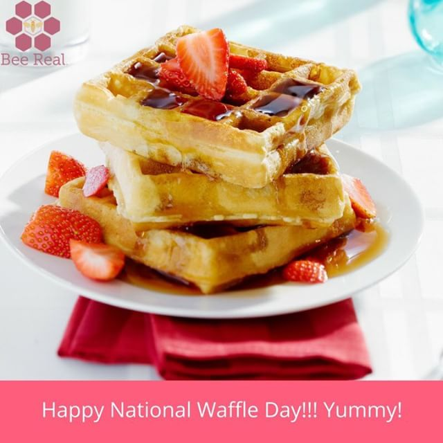 Have a delicious day!  #beereal #beerealskincare #waffles #summertime