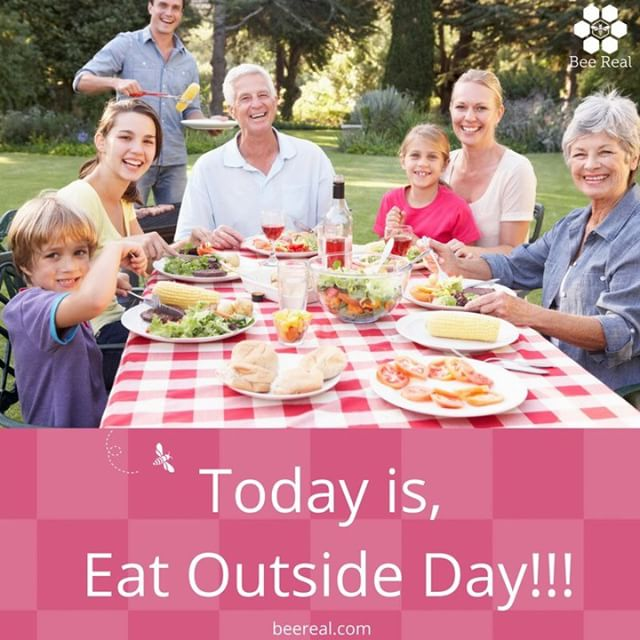 It's Eat Outside Day!!! #beereal #beerealskincare #organic #natural #skincare #smooth #eatoutside