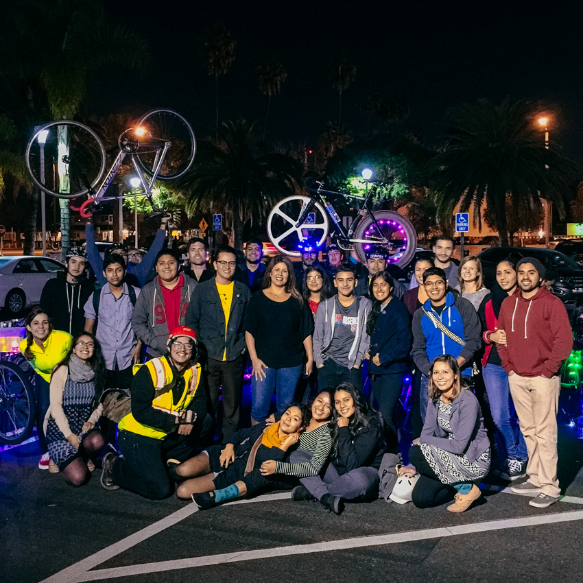Group photo with Councilwoman Michelle Martinez at the Ride of Lights.