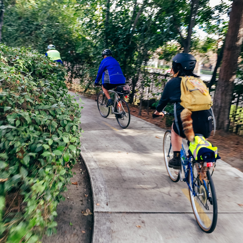 Our rides introduce you to wonderful secret paths hidden around Orange County.