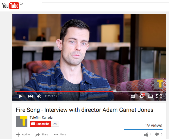 Adam Garnet Jones Fire Song Telefilm