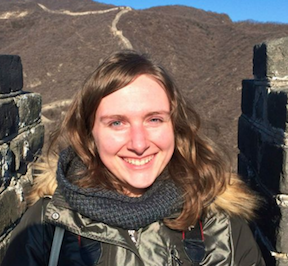 Jenn on the Great Wall with the NYU Albert Gallatin Scholars.