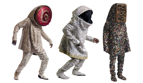 Nick Cave sound suits (courtesy:  https://slobots.com ).