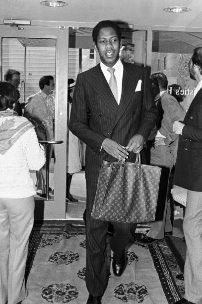 André Leon Talley in Paris, 1984 in THE GOSPEL ACCORDING TO ANDRÉ, a Magnolia. Pictures release. Photo courtesy of Magnolia Pictures.