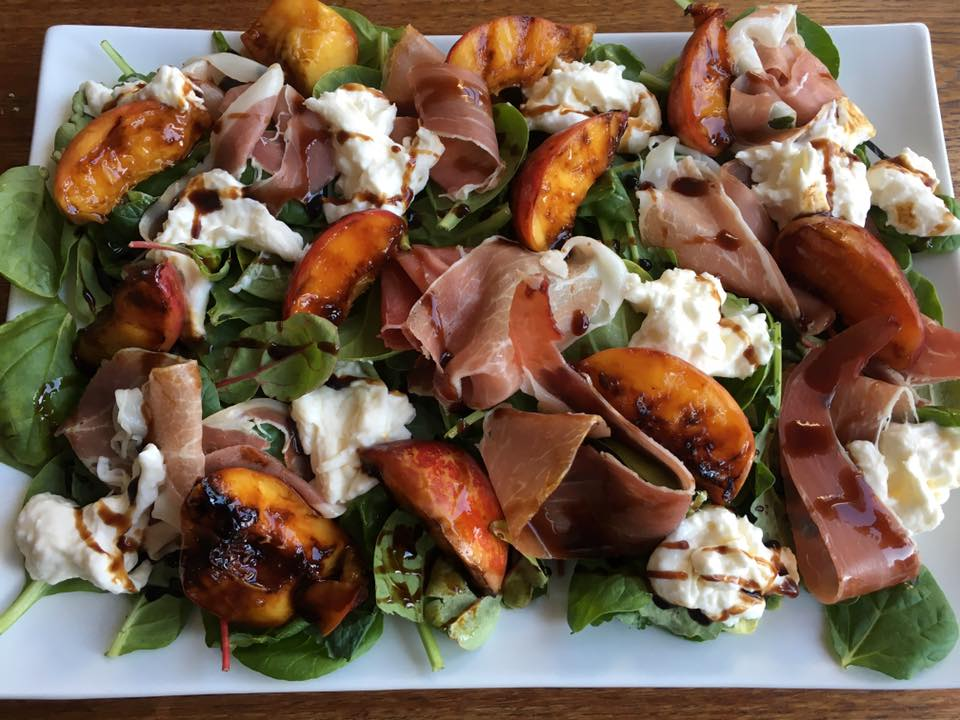 greens grilled peaches or nectarines proscuitto buratta and balsalmic glaze.jpg