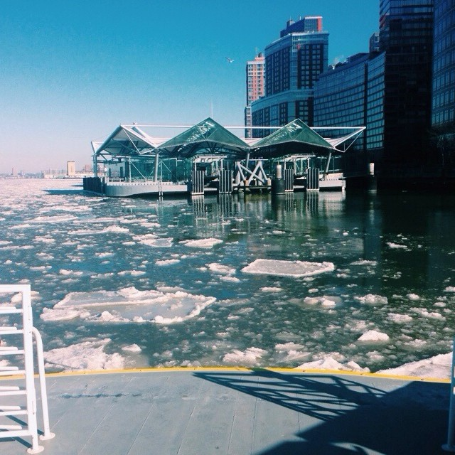 #icebergs in #nyc made for an interesting ferry ride today