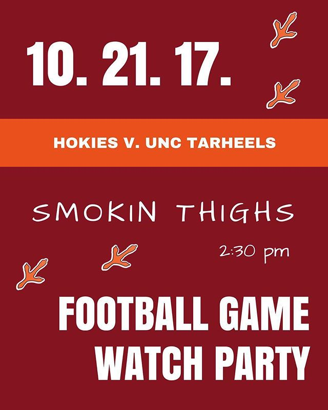 See you all this Saturday for the homecoming game against UNC!