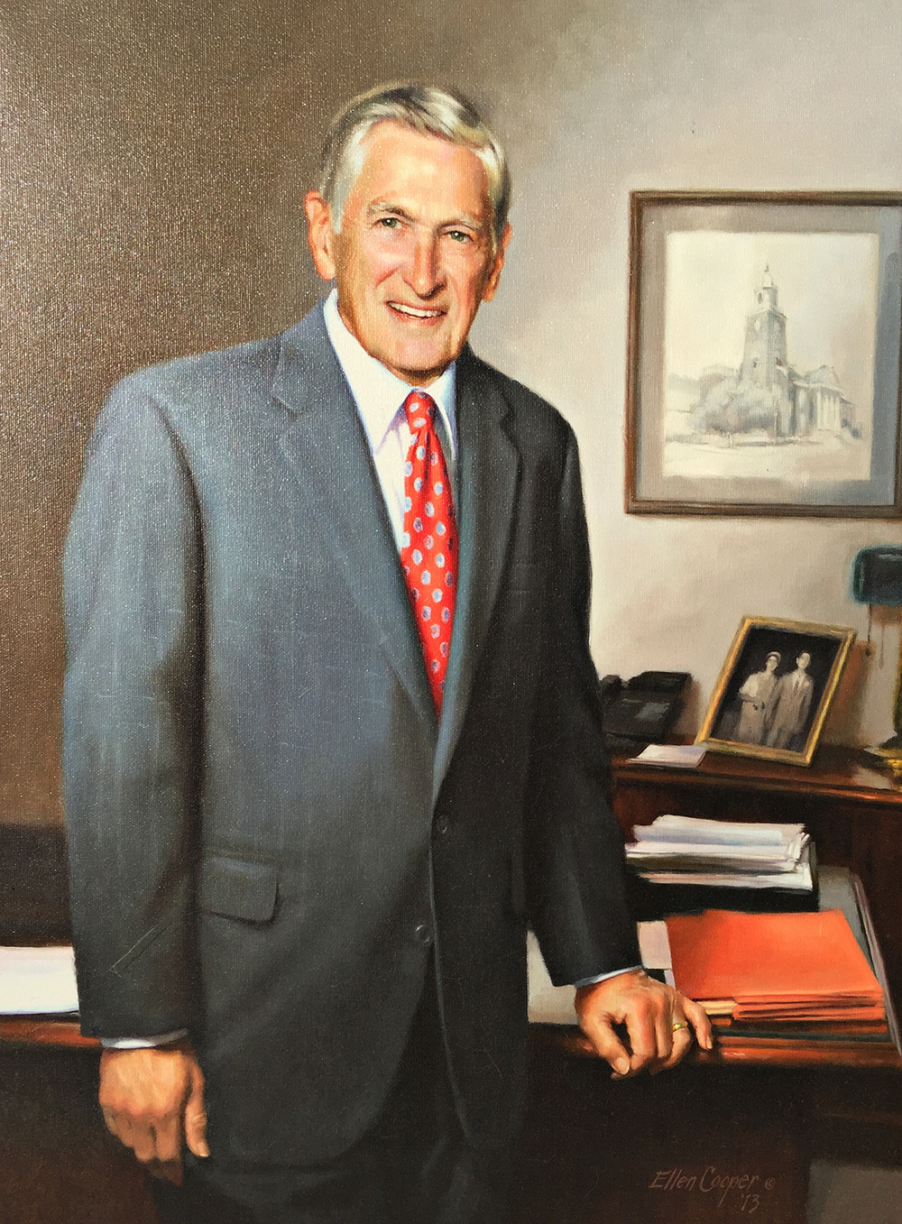 Bruce W. Kirbo portrait hanging at the University of Georgia Law School
