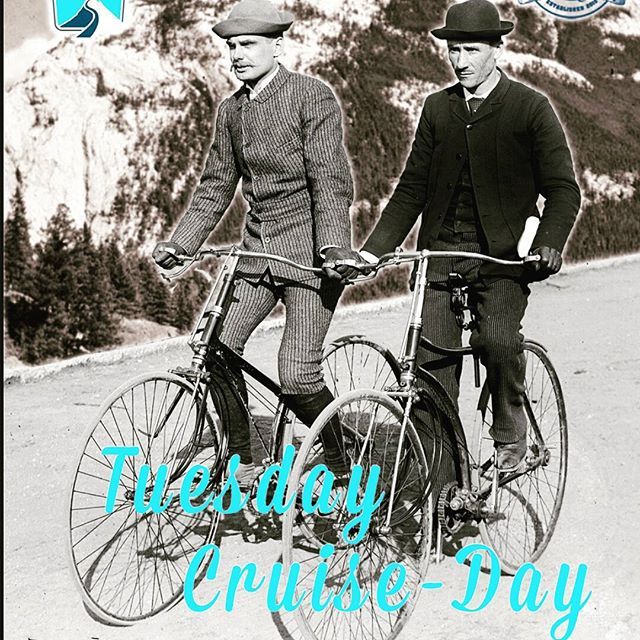The best day of the week #tuesdaycruiseday 6pm @ the shop! Followed by a few #pedalwrenchlagers @banffavebrewing #mybanff #banfflife