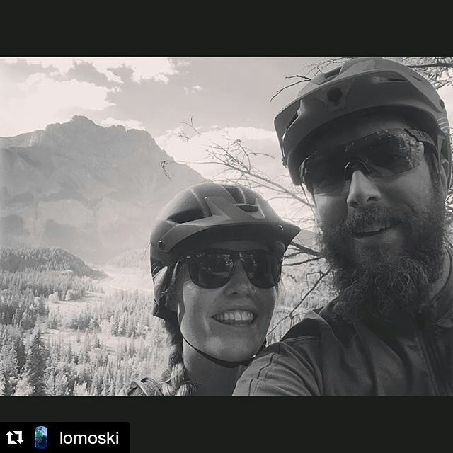 The rarest wildlife in #banff, @lomoski actually out on his bike! ・・・ Nice night back out on my #norco #sight with the beautiful @heidiplom. #mybanff #banffsoul
