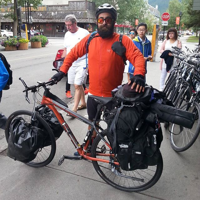 Fully loaded! Our man Julien stopped by on his way to Toronto from Victoria. #banfflife #banff