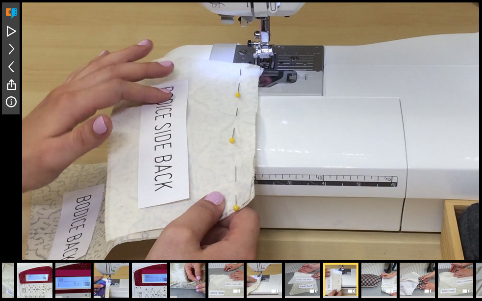 Awesome online sewing instructions for each project for your iPhone, iPad or computer.
