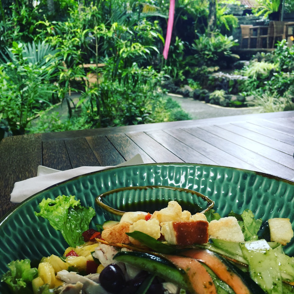 Fresh food and a beautiful view.