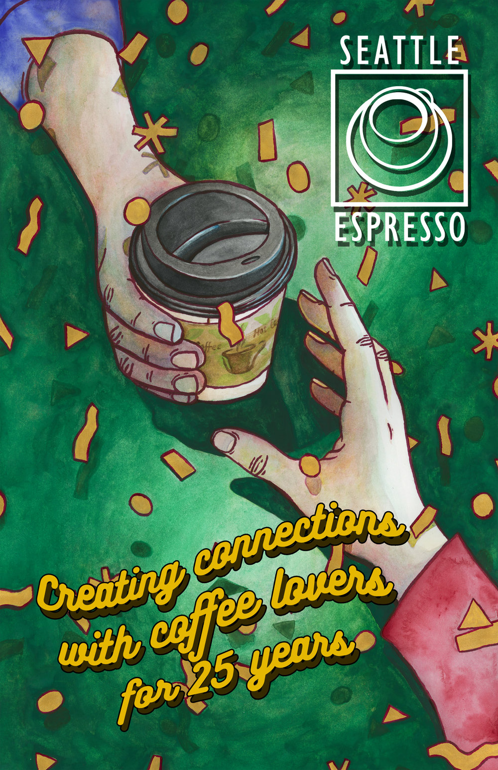 Seattle Espresso 25th Anniversary Poster