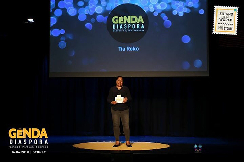 Speaker Tia Roko at our #GendaDiaspora talks in #Sydney. . Our new talk series, #FijiansoftheWorld 🇫🇯 is currently touring Sydney, Brisbane & Auckland this year. . Genda Diaspora, a series of live talks, strives to connect Fijian audiences to the many untold stories that have left the shores of Viti. We strive to open up conversations that challenge people of all ages to venture out of their comfort zone, question themselves, question others. A space to get inspired, discover the possibilities, connect to others and ultimately to their own selves. .