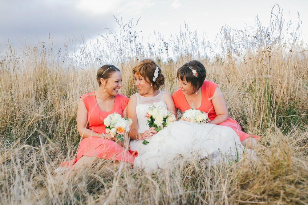 Pretty coral bridesmaid dresses |