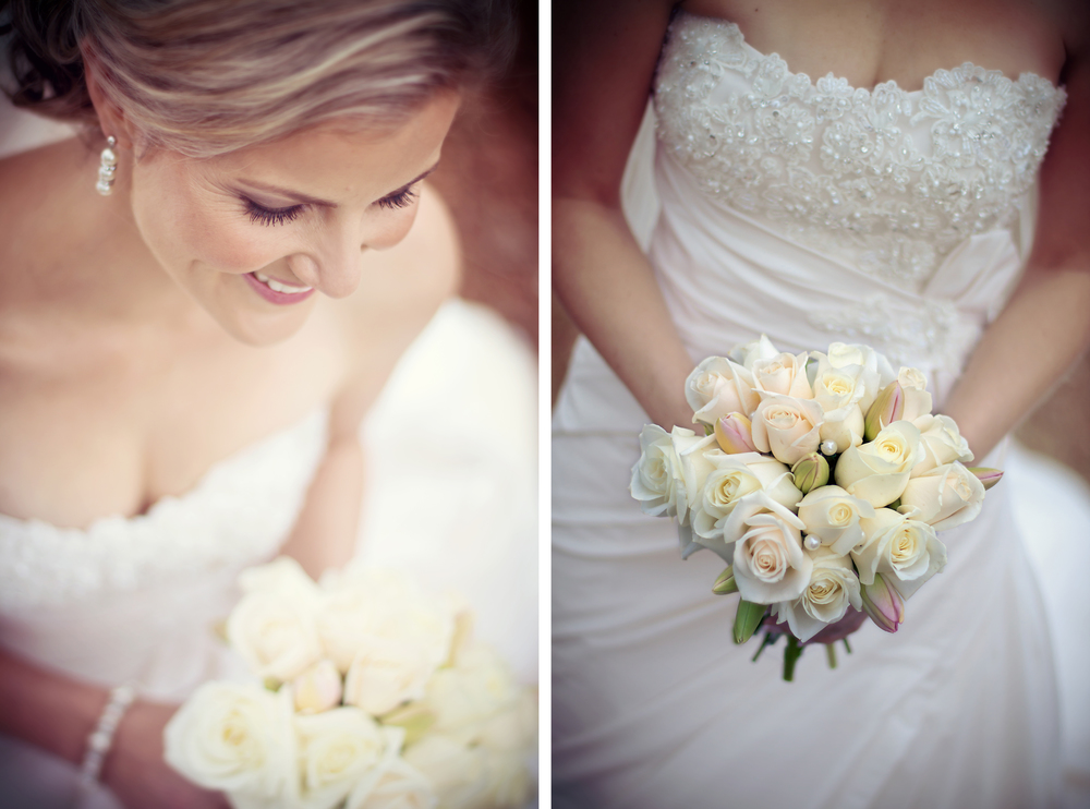 White floral wedding bouquet \\ Astra Bridal Featured Bride Kylie \\ Photography by Melt \\ www.borrowedandblue.kiwi