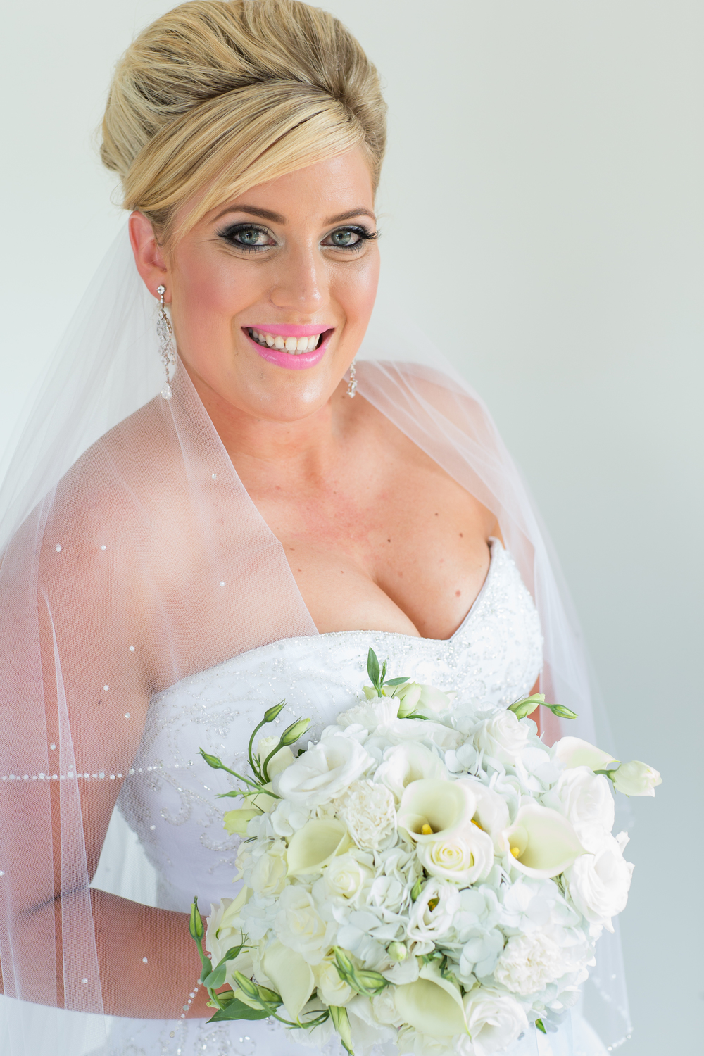 Beautiful bridal hair and make-up |  | Astra Bridal bride Katie | Nelson Wedding Photography | www.borrowedandblue.kiwi