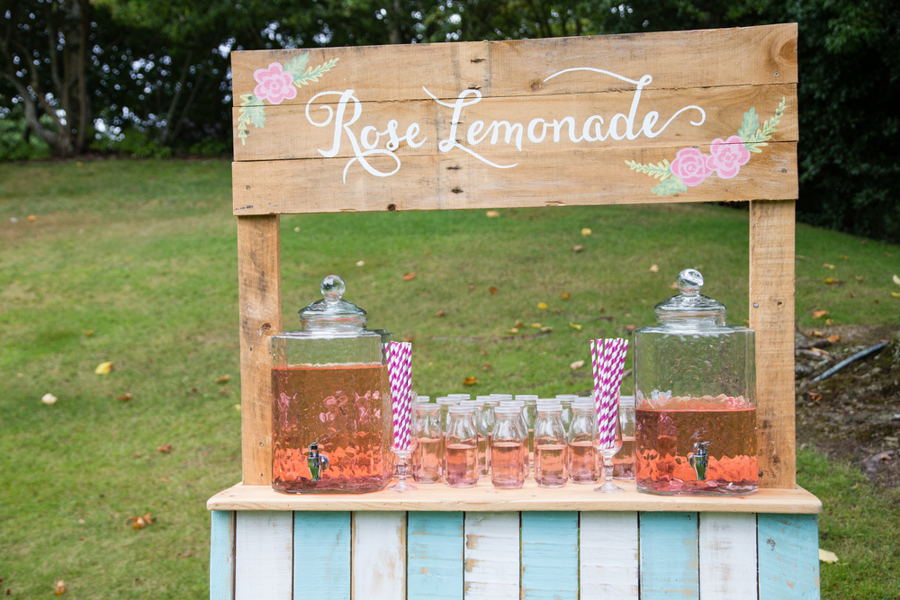 Drink stations  | Astra Bridal bride Katie | Nelson Wedding Photography | www.borrowedandblue.kiwi