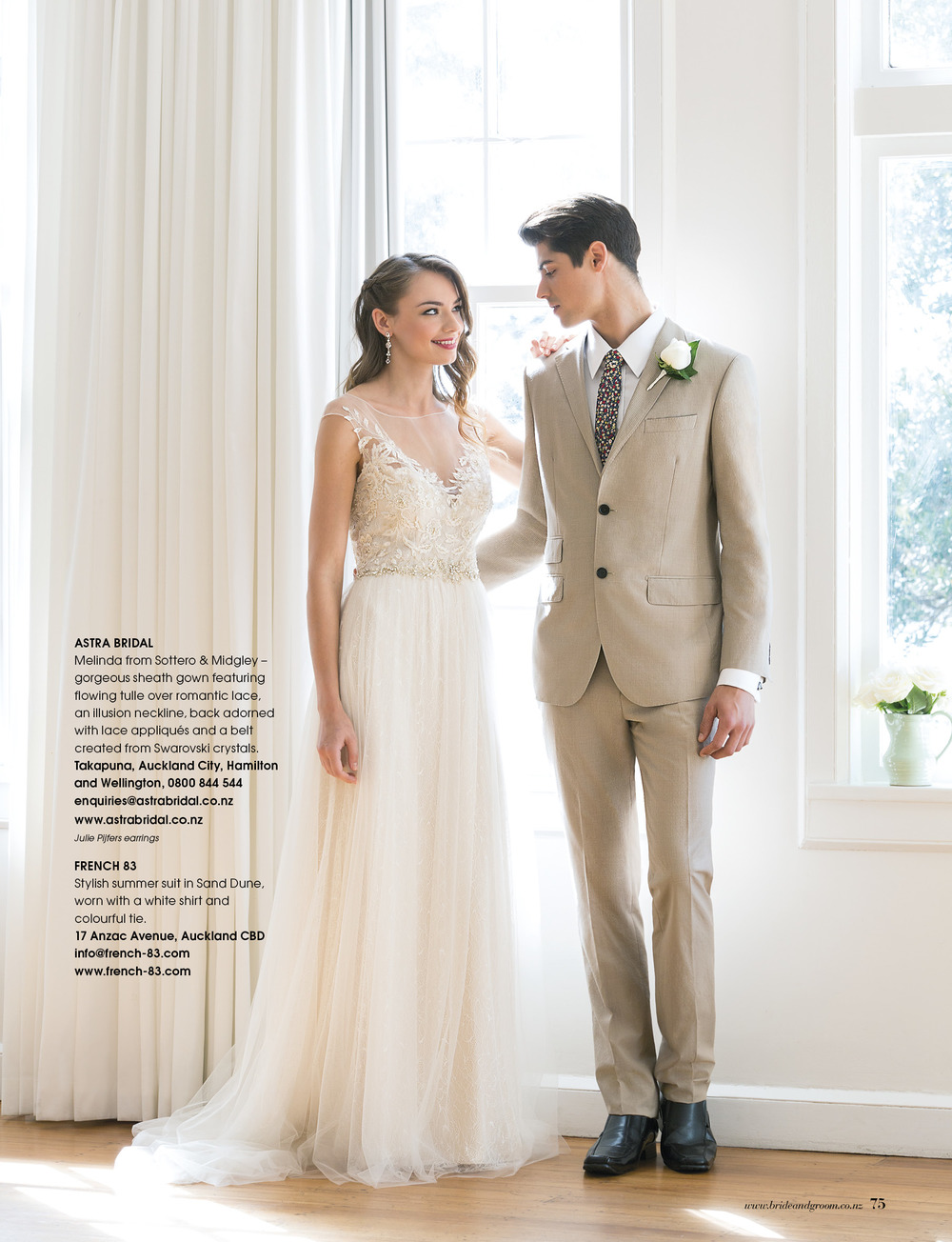 Maggie Sottero Melinda | Available from Astra Bridal | As seen in Bride and Groom magazine |