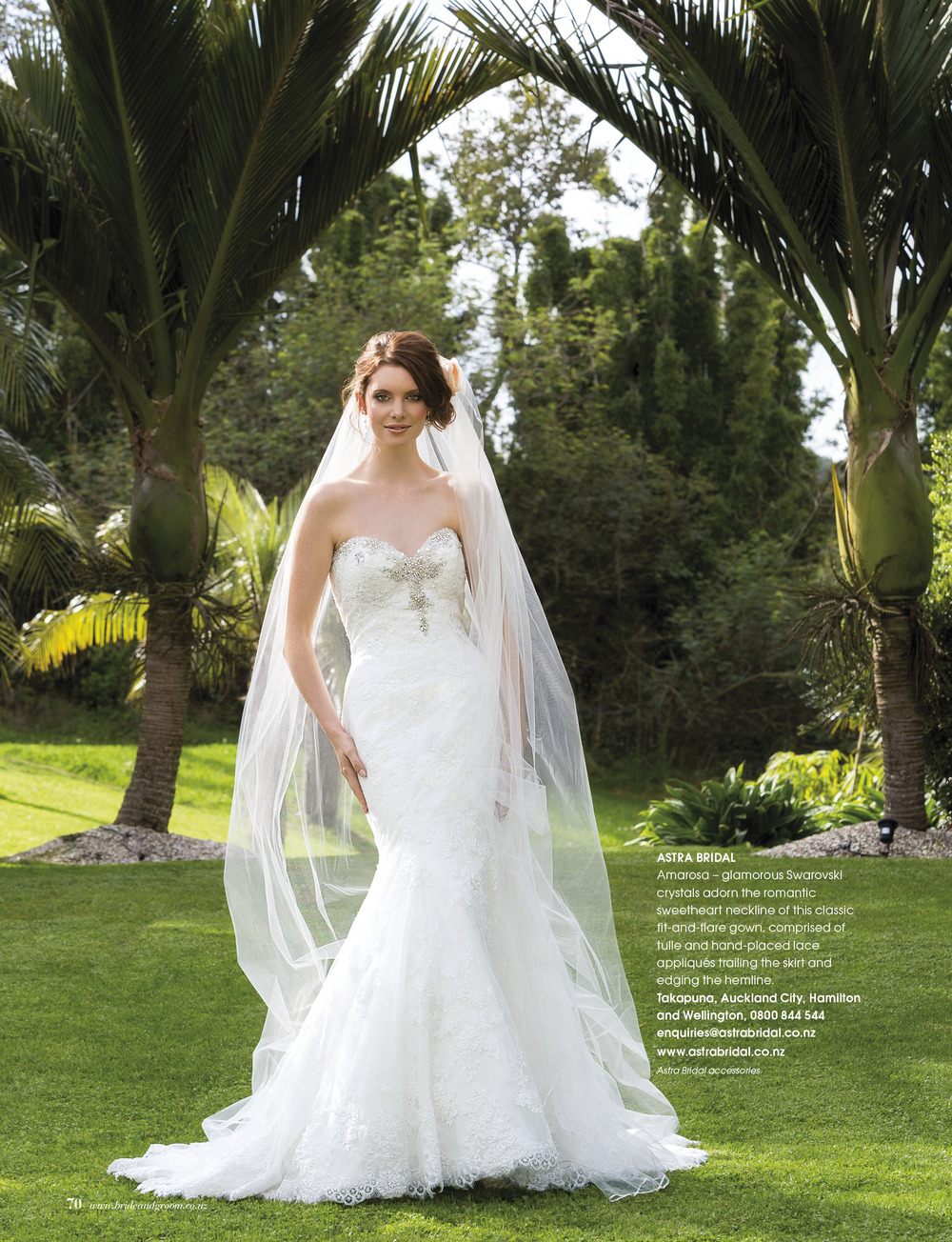 Maggie Sottero Amarosa | Available from Astra Bridal | As seen in Bride and Groom magazine |